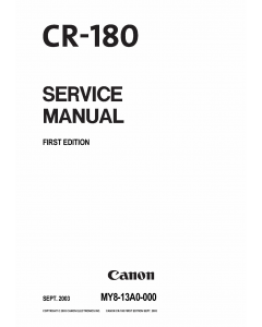 Canon Options CR-180 Document-Scanner Parts and Service Manual