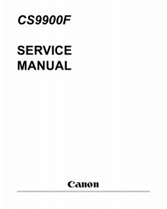 Canon Options CS-9900F Document-Scanner Parts and Service Manual