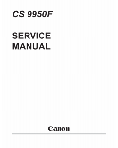 Canon Options CS-9950F Document-Scanner Parts and Service Manual