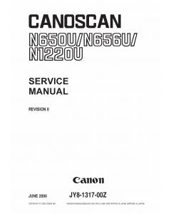 Canon Options CS-N650U CanoScan N650U N656U N1220U Parts and Service Manual