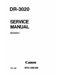 Canon Options DR-3020 Document-Scanner Parts and Service Manual