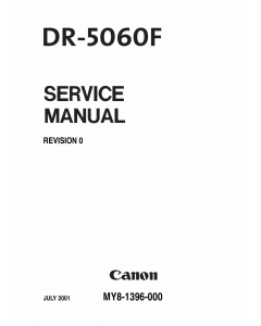 Canon Options DR-5060F Document-Scanner Parts and Service Manual