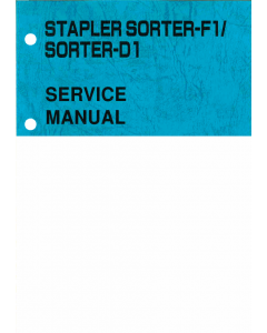 Canon Options Sorter-F1 Stapler-D1 Parts and Service Manual