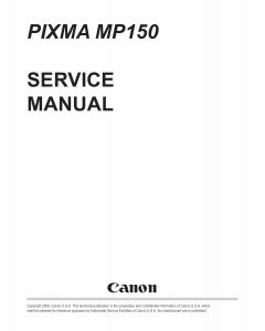 Canon PIXMA MP150 Service Manual