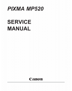 Canon PIXMA MP520 Parts and Service Manual