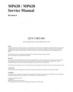 Canon PIXMA MP620 MP628 Service Manual