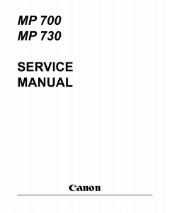 Canon PIXMA MP700 MP730 Service Manual