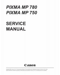Canon PIXMA MP780 MP750 Service Manual