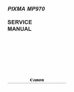 Canon PIXMA MP970 Parts and Service Manual