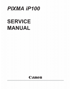 Canon PIXMA iP100 Parts and Service Manual