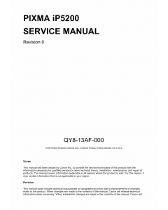 Canon PIXMA iP5200 Service Manual