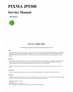Canon PIXMA iP5300 Service Manual