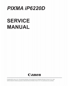 Canon PIXMA iP6220D Service Manual