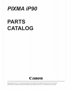 Canon PIXMA iP90 Parts Catalog