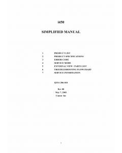Canon PIXUS i450 Service Manual Simplified