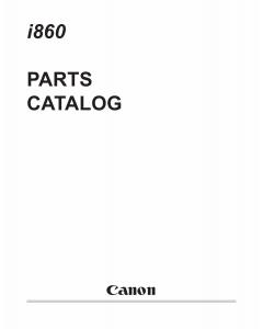 Canon PIXUS i860 Parts Catalog Manual