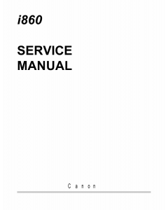 Canon PIXUS i860 i865 860i Service Manual