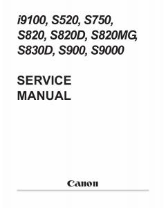 Canon PIXUS i9100 S520 S750 S820 S820D S820MG S830D S900 S9000 Service Manual