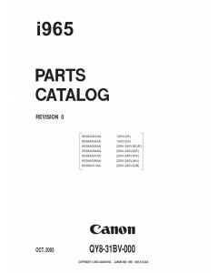 Canon PIXUS i965 Parts Catalog Manual