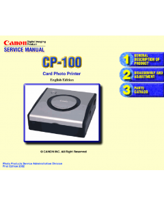 Canon SELPHY CP100 Service Manual