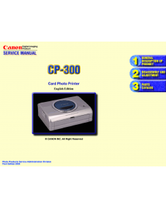 Canon SELPHY CP300 Service Manual