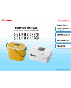 Canon SELPHY CP770 CP760 Service Manual
