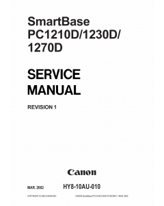 Canon SmartBase PC1210D PC1230D PC1270D Service Manual