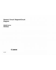 Canon Wide-Format-InkJet W8400D Circuit Diagram