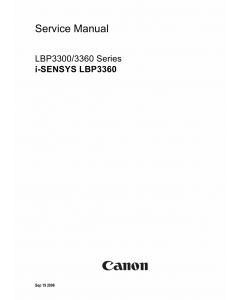 Canon imageCLASS LBP-3360 Service Manual