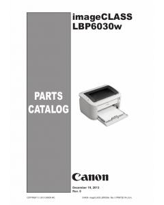 Canon imageCLASS LBP-6030w 6000 6018 6020 6030 Parts Catalog Manual