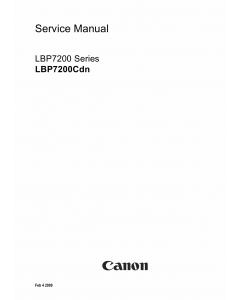 Canon imageCLASS LBP-7200Cdn Service Manual