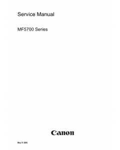 Canon imageCLASS MF-5700 Service and Parts Manual