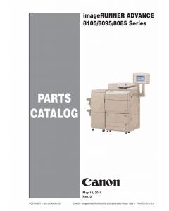 Canon imageRUNNER-ADVANCE-iR 8085 8095 8105Pro Parts Catalog