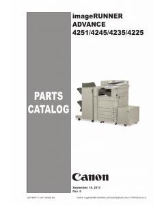 Canon imageRUNNER-ADVANCE iR-4251 4245 4235 4225 Parts Catalog Manual