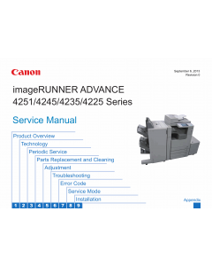 Canon imageRUNNER-ADVANCE iR-4251 4245 4235 4225 Service Manual
