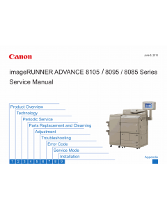 Canon imageRUNNER-ADVANCE iR-8105 8095 8085 Parts and Service Manual