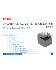 Canon imageRUNNER-ADVANCE iR-C250 C250i C250iF C250 C350i C350iF C351 C351iF Service Manual