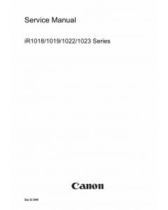 Canon imageRUNNER-iR 1018 1019 1022 1023 Service Manual