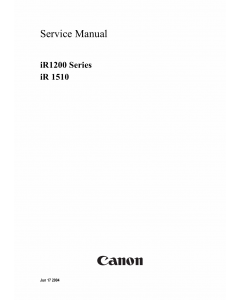 Canon imageRUNNER-iR 1200 1510 Service Manual