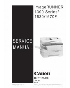 Canon imageRUNNER-iR 1630 1670F 1300 Service Manual