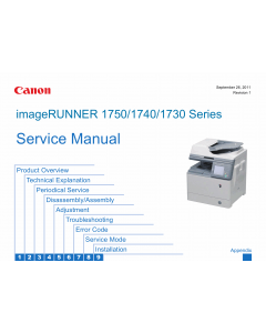 Canon imageRUNNER-iR 1730 1740 1750 i iF Service Manual