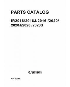 Canon imageRUNNER-iR 2020 2016 2020J i J S Parts Catalog