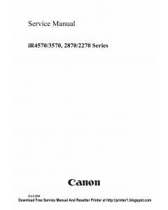 Canon imageRUNNER-iR 2270 2870 3570 4570 Service Manual