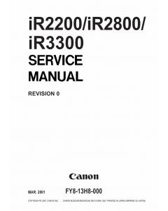 Canon imageRUNNER-iR 3300 2800 2200 Service Manual