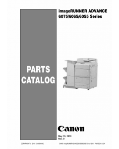 Canon imageRUNNER-iR 6055 6065 6075 i Parts Catalog