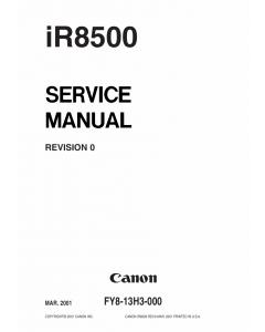 Canon imageRUNNER-iR 8500 Service Manual