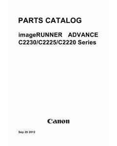 Canon imageRUNNER-iR C2220 C2225 C2230 Parts Catalog