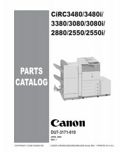 Canon imageRUNNER-iR C2550 2380 3080 3480 3580 i Parts Catalog