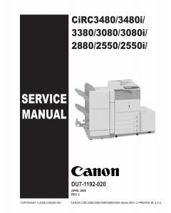 Canon imageRUNNER-iR C2550 2380 3080 3480 3580 i Service Manual