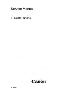 Canon imageRUNNER-iR C3100 C3170 C2580 Service Manual